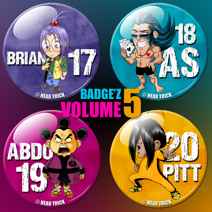 Badge'Z Chapter Collection Volume 5 : Brian, As, Abdo et Pitt (à PRIX REDUIT)
