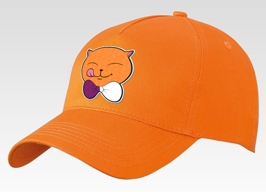 Casquette Bobo'Z avec écusson brodé :) (Version all orange)