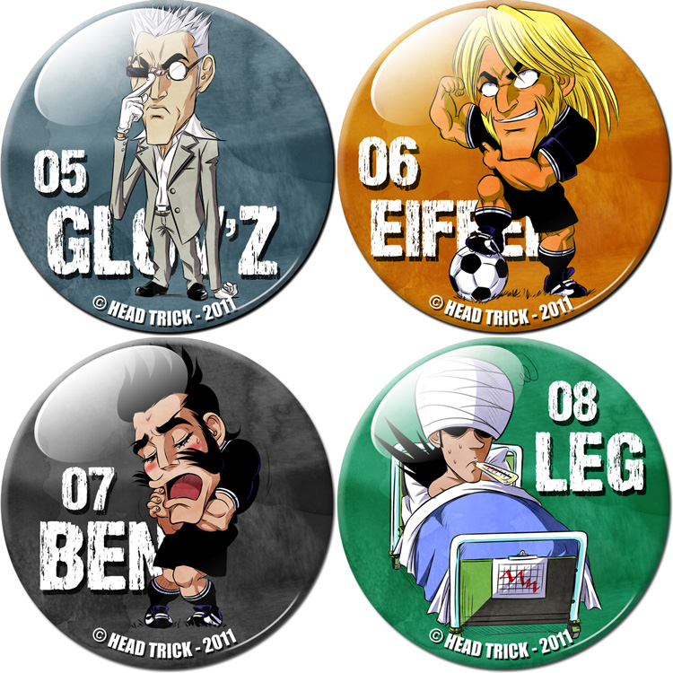 Badge'Z Chapter Volume 2 Collection : Glov'Z, Eiffel, Ben et Leg (à PRIX REDUIT)